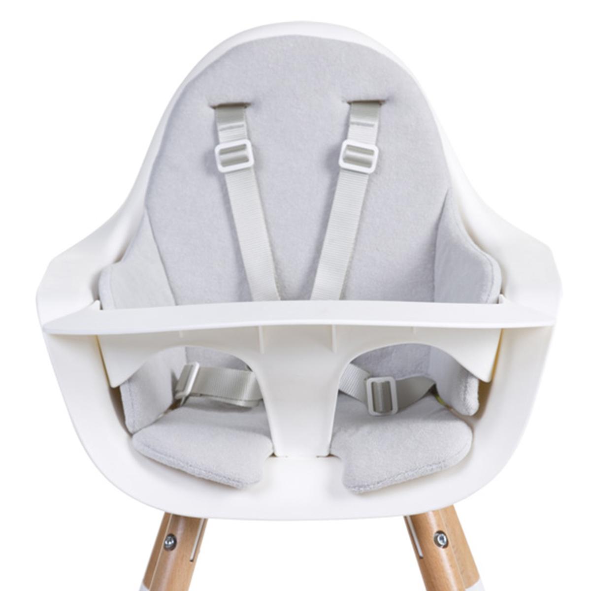 Chaise haute Coussin de Chaise Haute Eponge - Gris Souris Coussin de Chaise Haute Eponge - Gris Souris