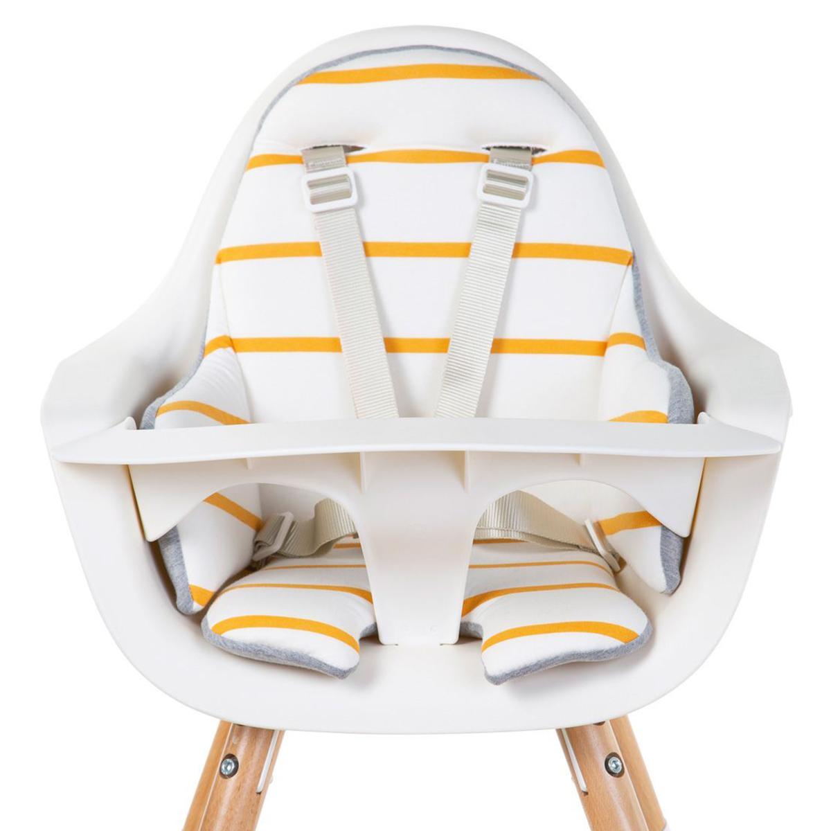 Chaise haute Coussin de Chaise Haute Jersey - Ochre Stripes Coussin de Chaise Haute Jersey - Ochre Stripes