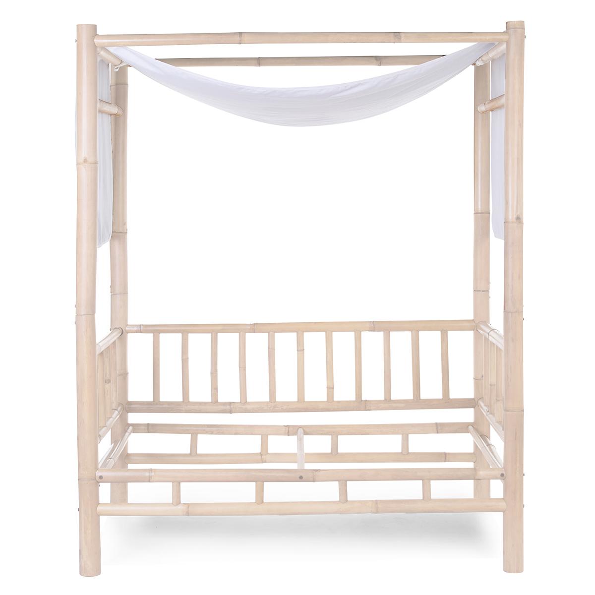 Lit bébé Toile de Lit Bambou - Blanc Cassé