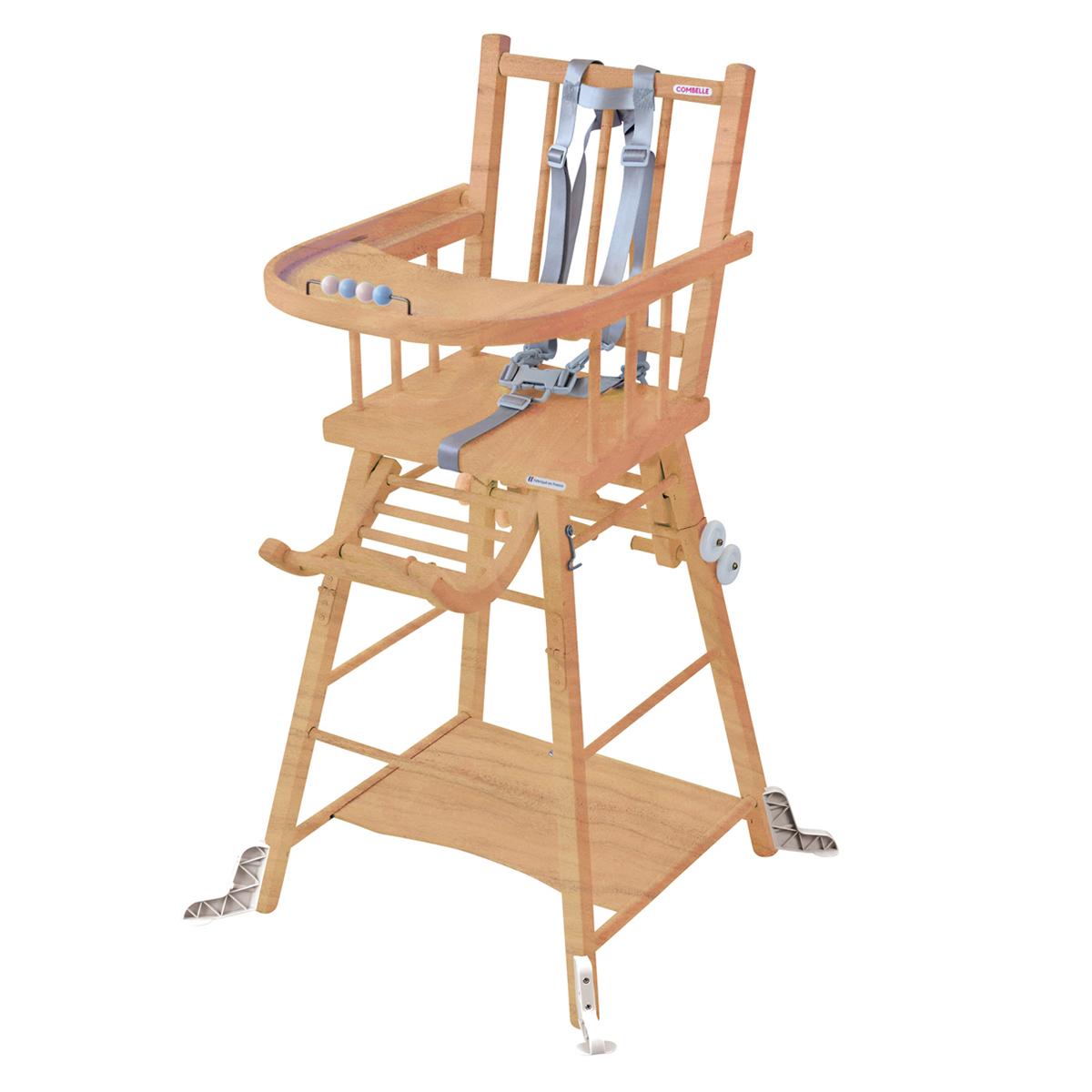 Chaise haute Chaise Haute à Barreaux Transformable Marcel - Naturel Chaise Haute à Barreaux Transformable Marcel - Naturel