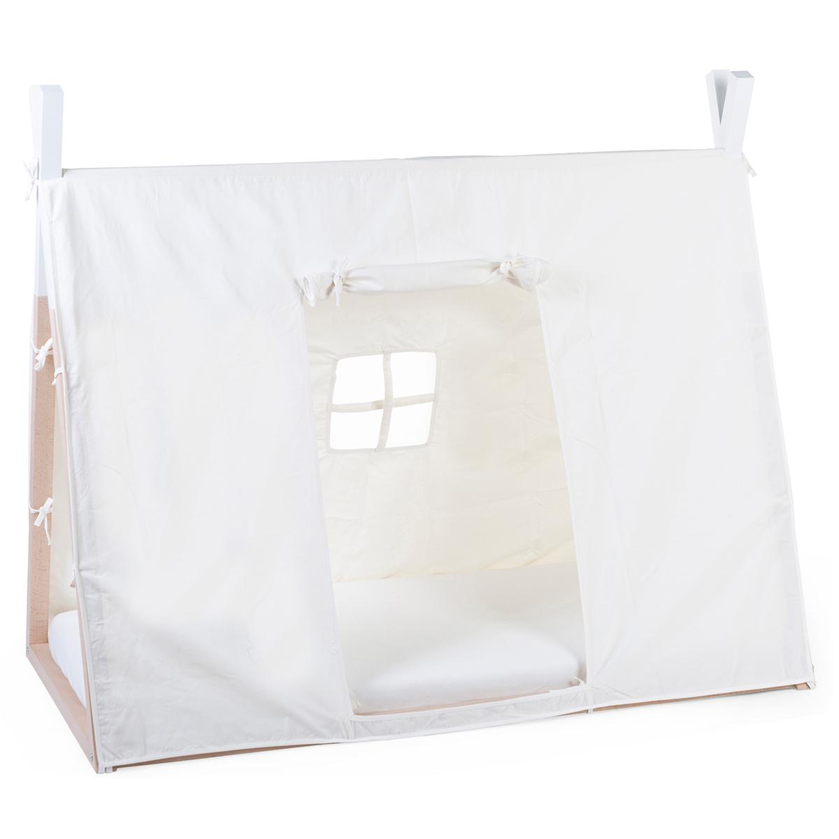 Lit bébé Toile Lit Bébé Tipi Blanc - 70 x 140 cm