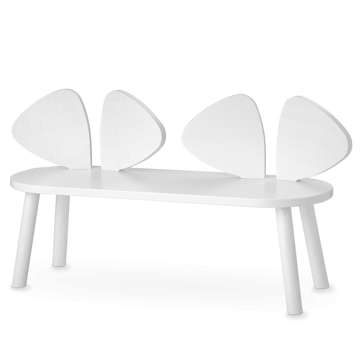 Table & Chaise Banc Mouse - Blanc