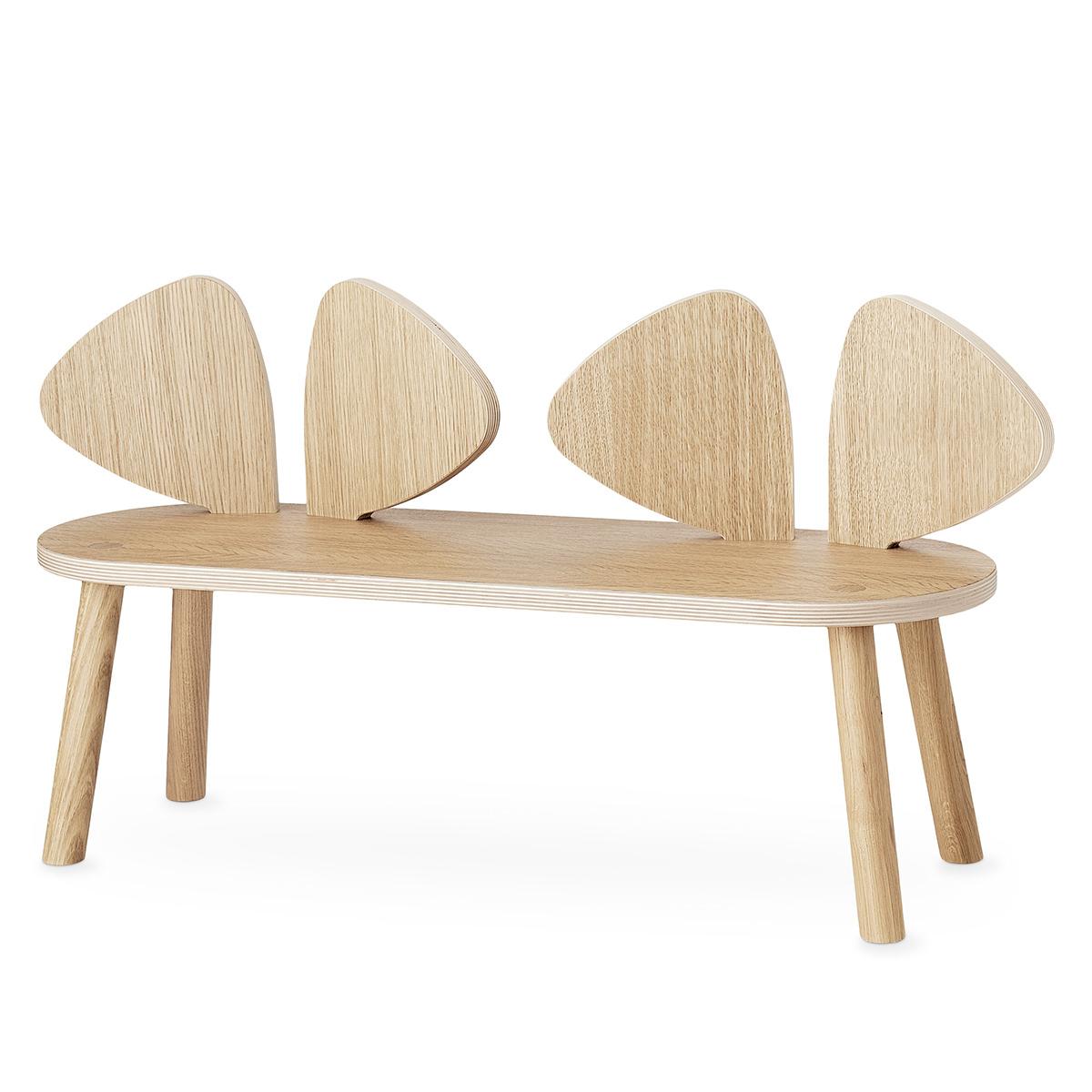 Table & Chaise Banc Mouse - Chêne