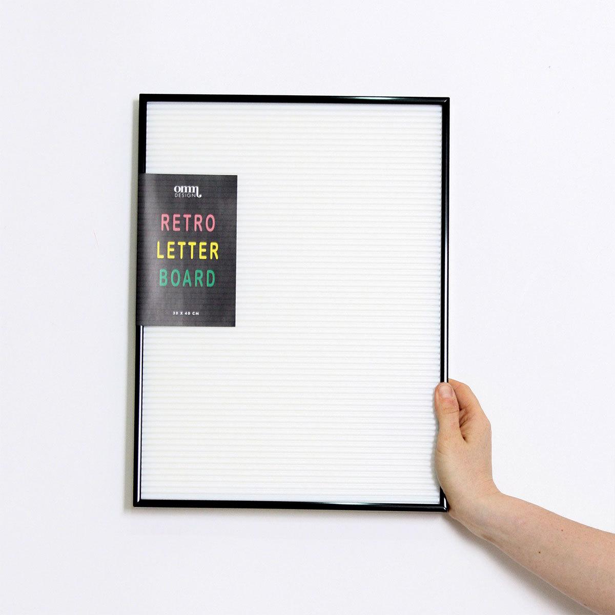 Objet décoration Tableau à Messages - Blanc avec Cadre Noir