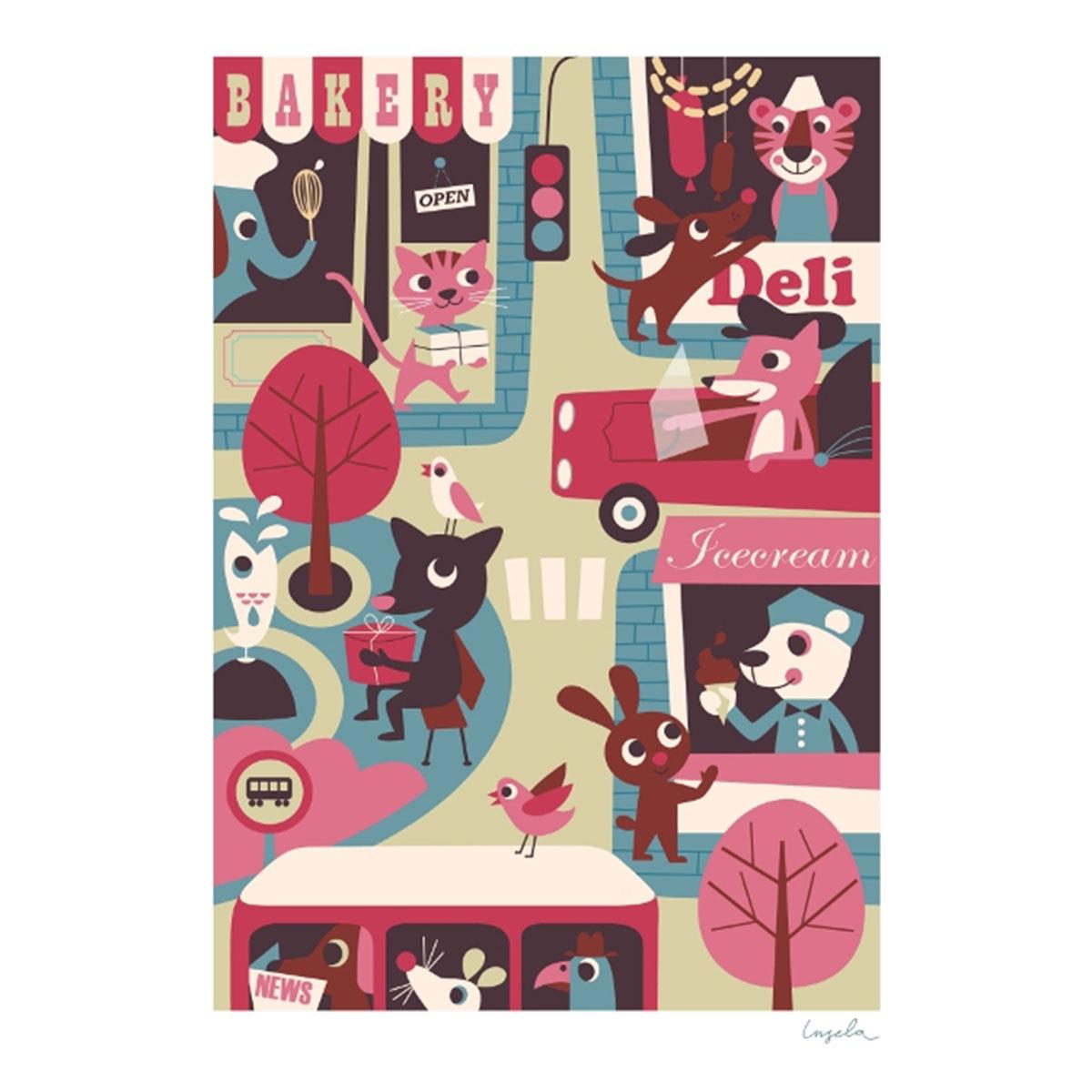 Affiche & poster Affiche La Ville par Ingela P. Arrhenius