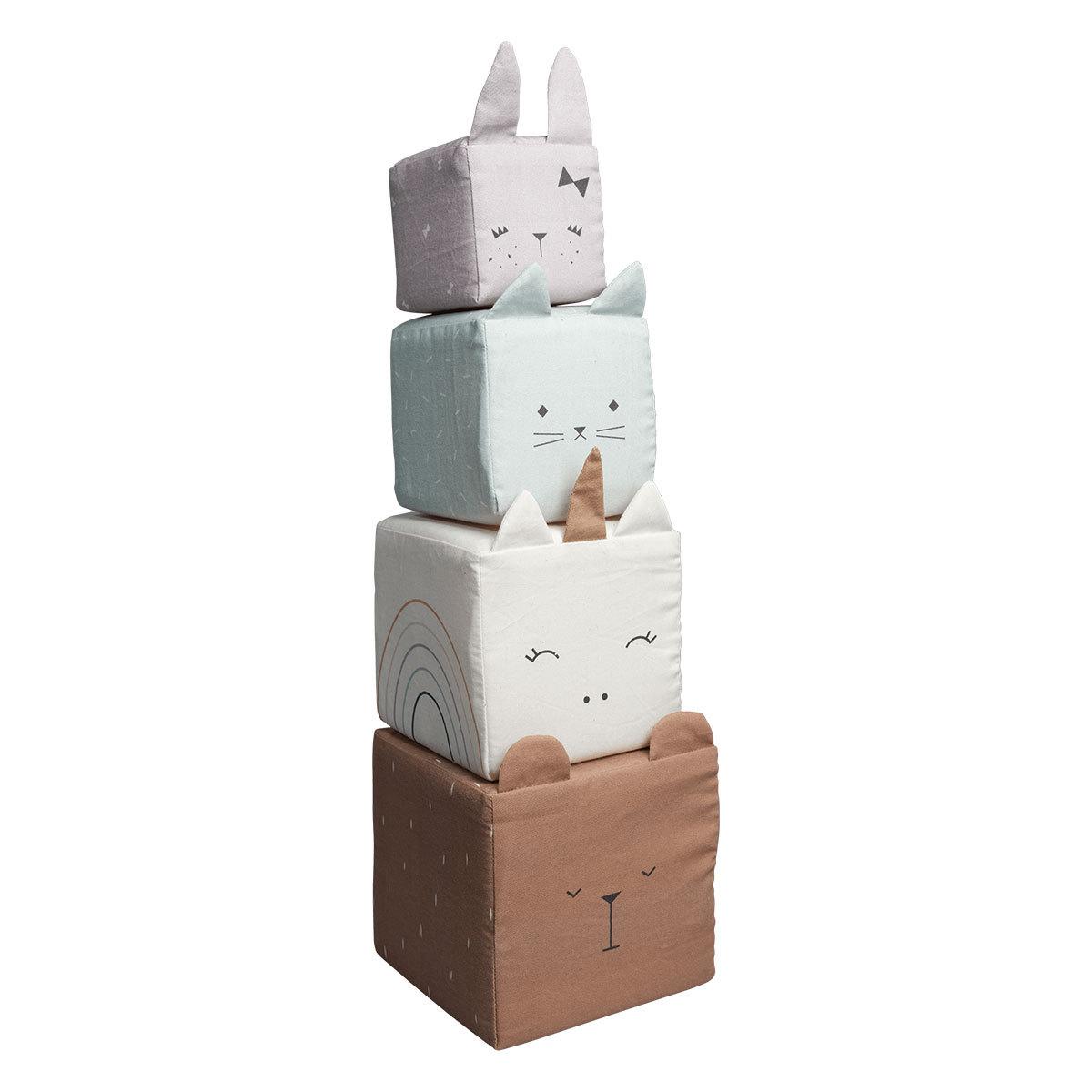 Mes premiers jouets Cubes Animaux en Tissu Cubes Animaux en Tissu