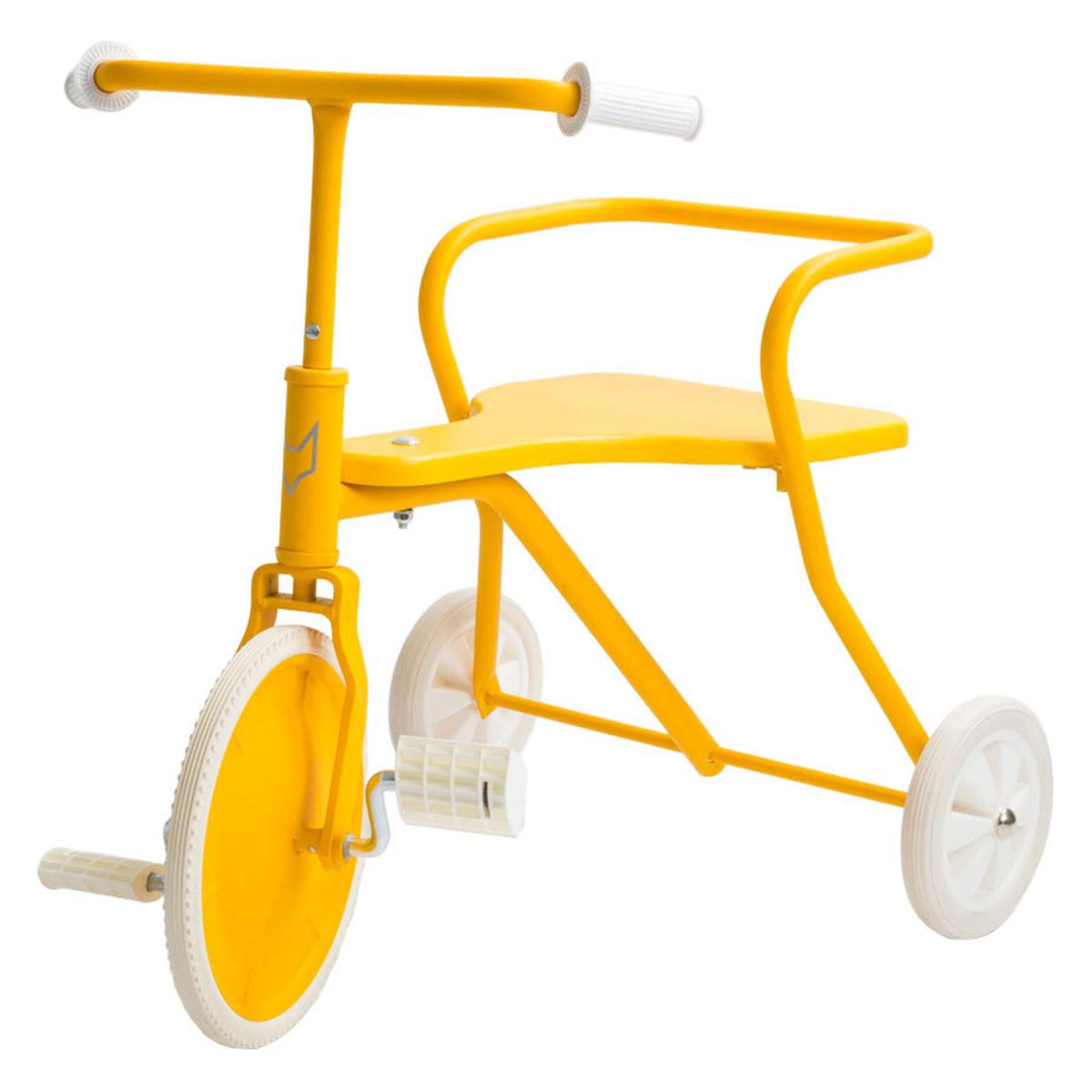 Trotteur & Porteur Tricycle en Métal - Jaune Tricycle en Métal - Jaune