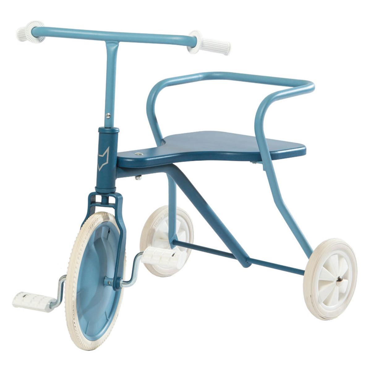 Trotteur & Porteur Tricycle en Métal - Bleu Vintage Tricycle en Métal - Bleu Vintage