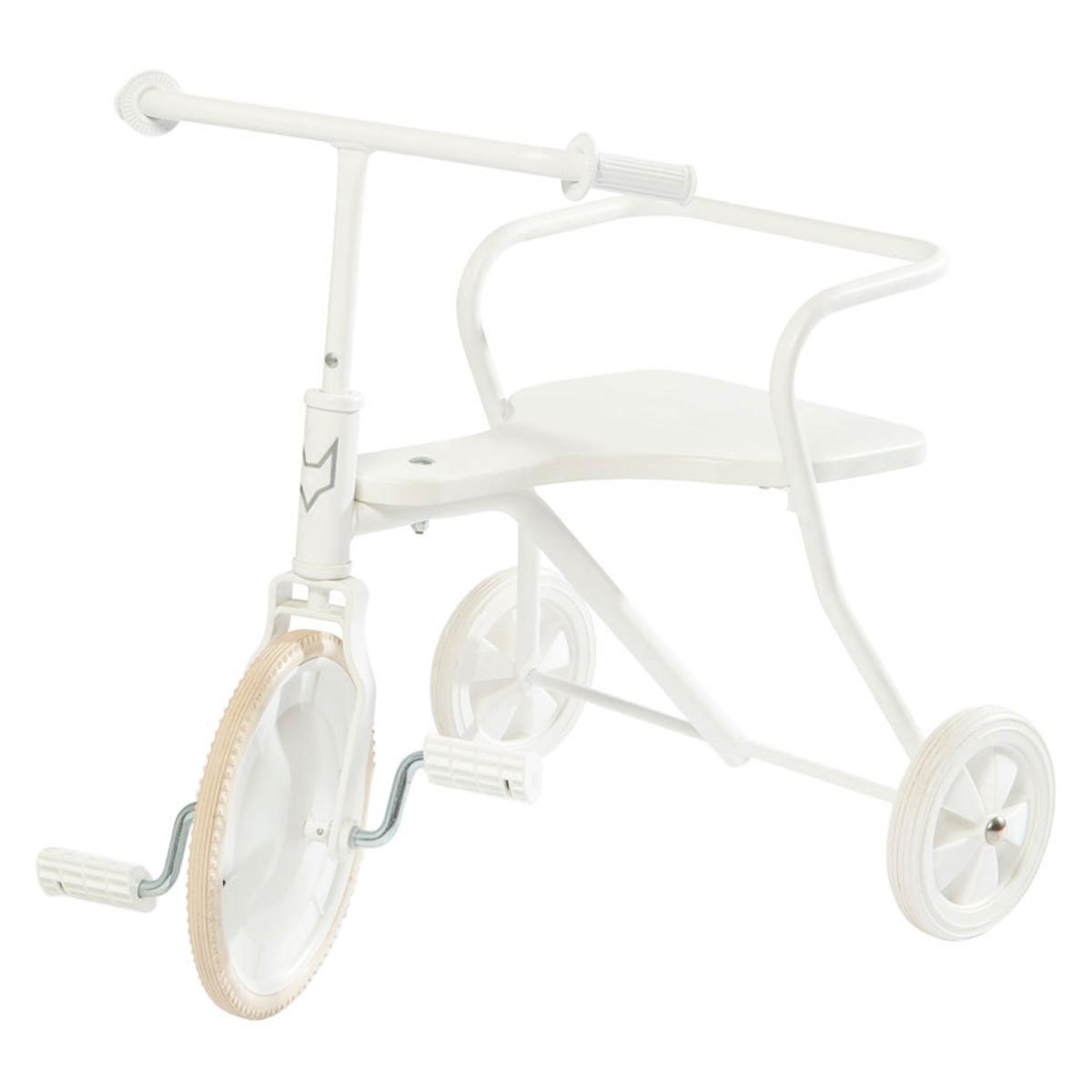 Trotteur & Porteur Tricycle en Métal - Blanc