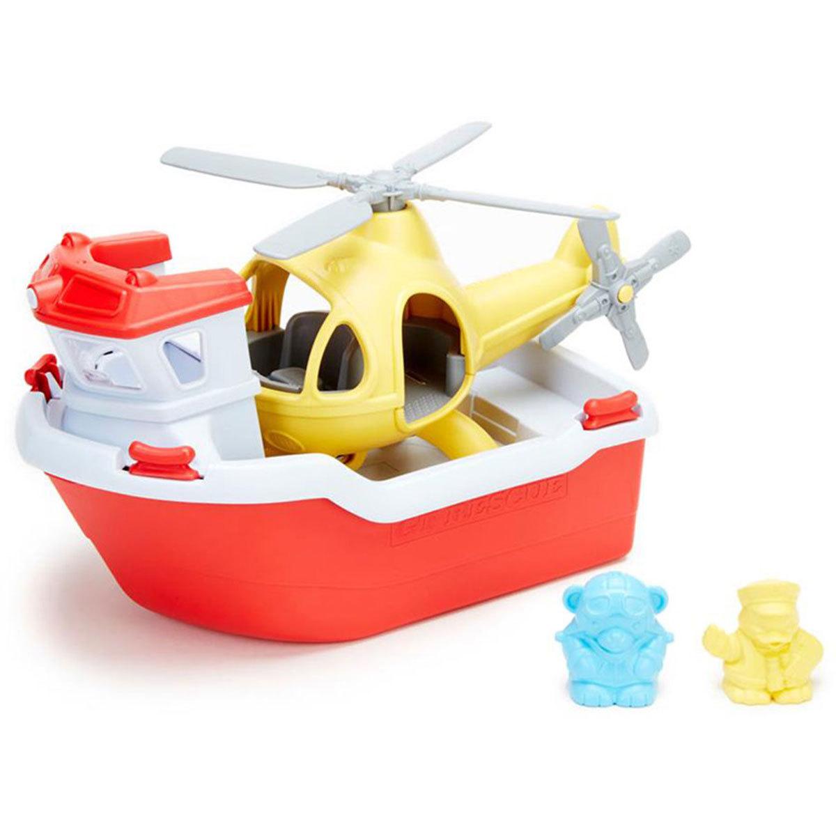 Mes premiers jouets Jeu de Bain Bateau de Sauvetage et Hélicoptère