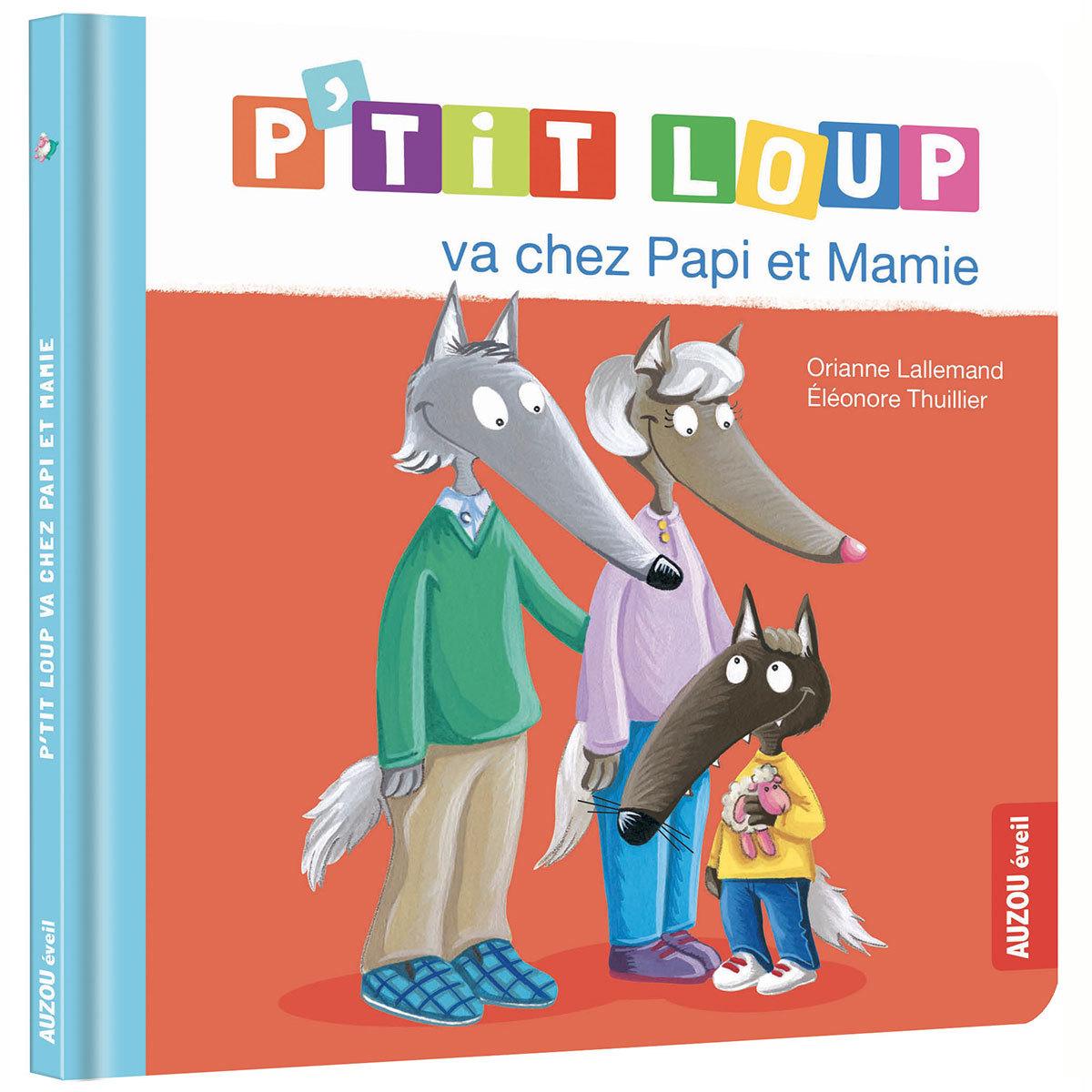 Livre & Carte P'tit Loup va chez Papi et Mamie