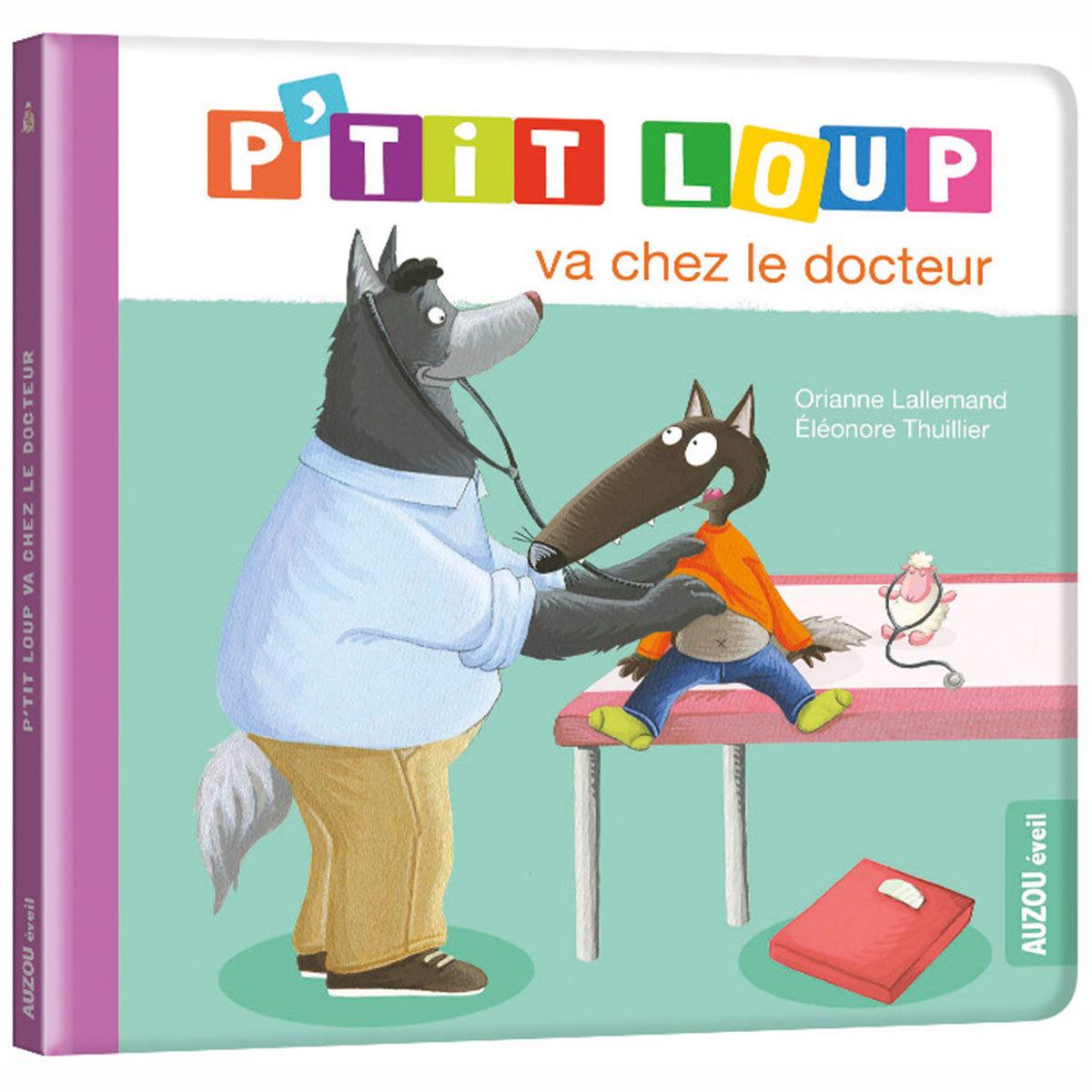 Livre & Carte P'tit Loup va chez le docteur