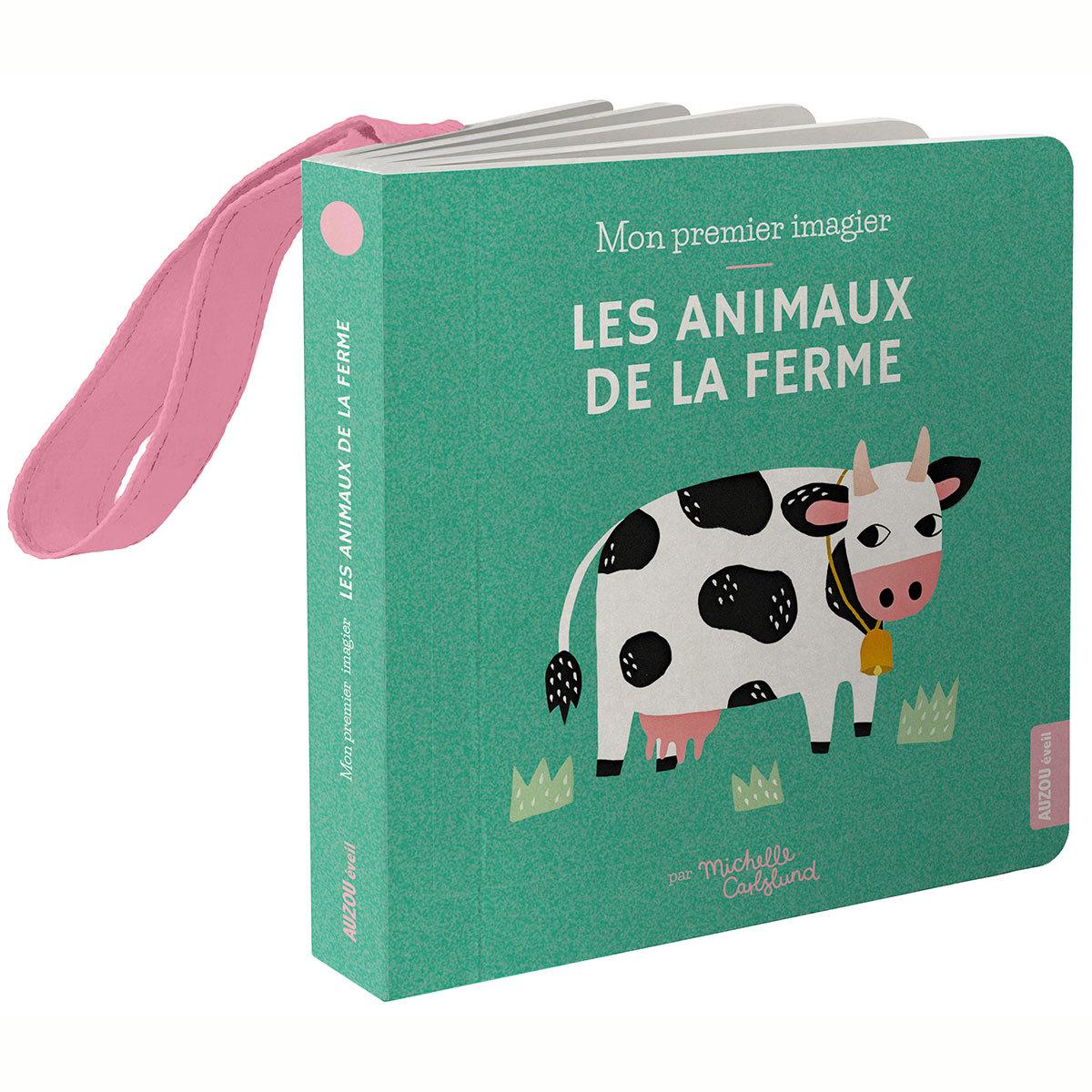 Livre & Carte Mon Premier Imagier Accroche-Poussette - Les Animaux de la Ferme
