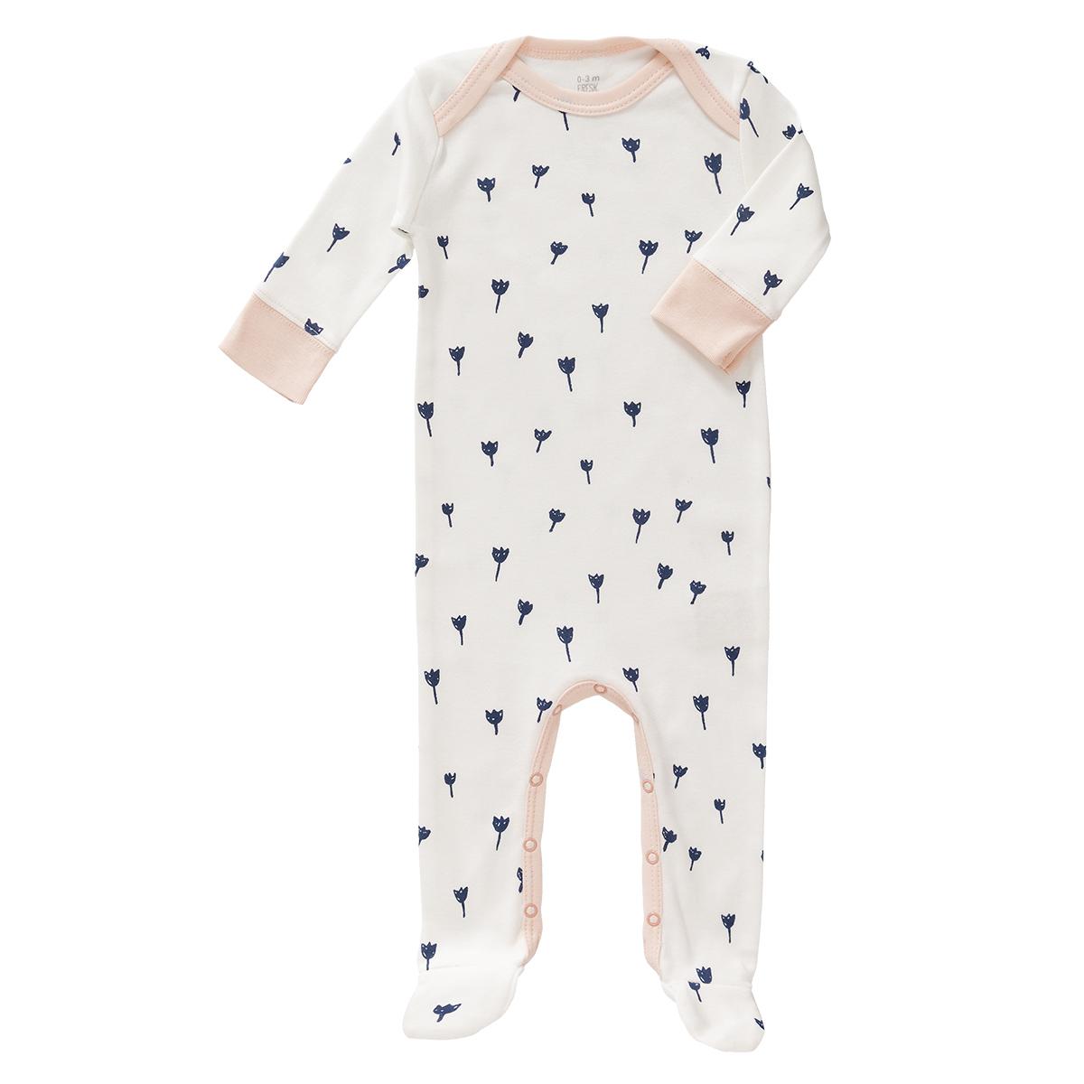 Body & Pyjama Pyjama Tulipes Bleues - 3/6 Mois