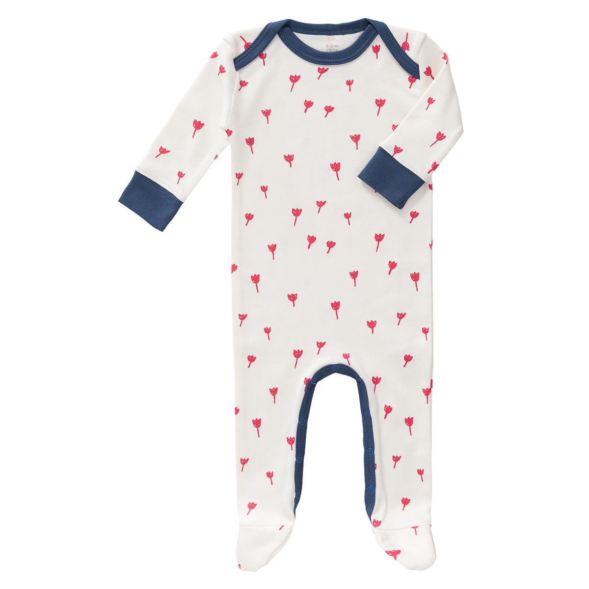 Body & Pyjama Pyjama Tulipes Rouges - 3/6 Mois