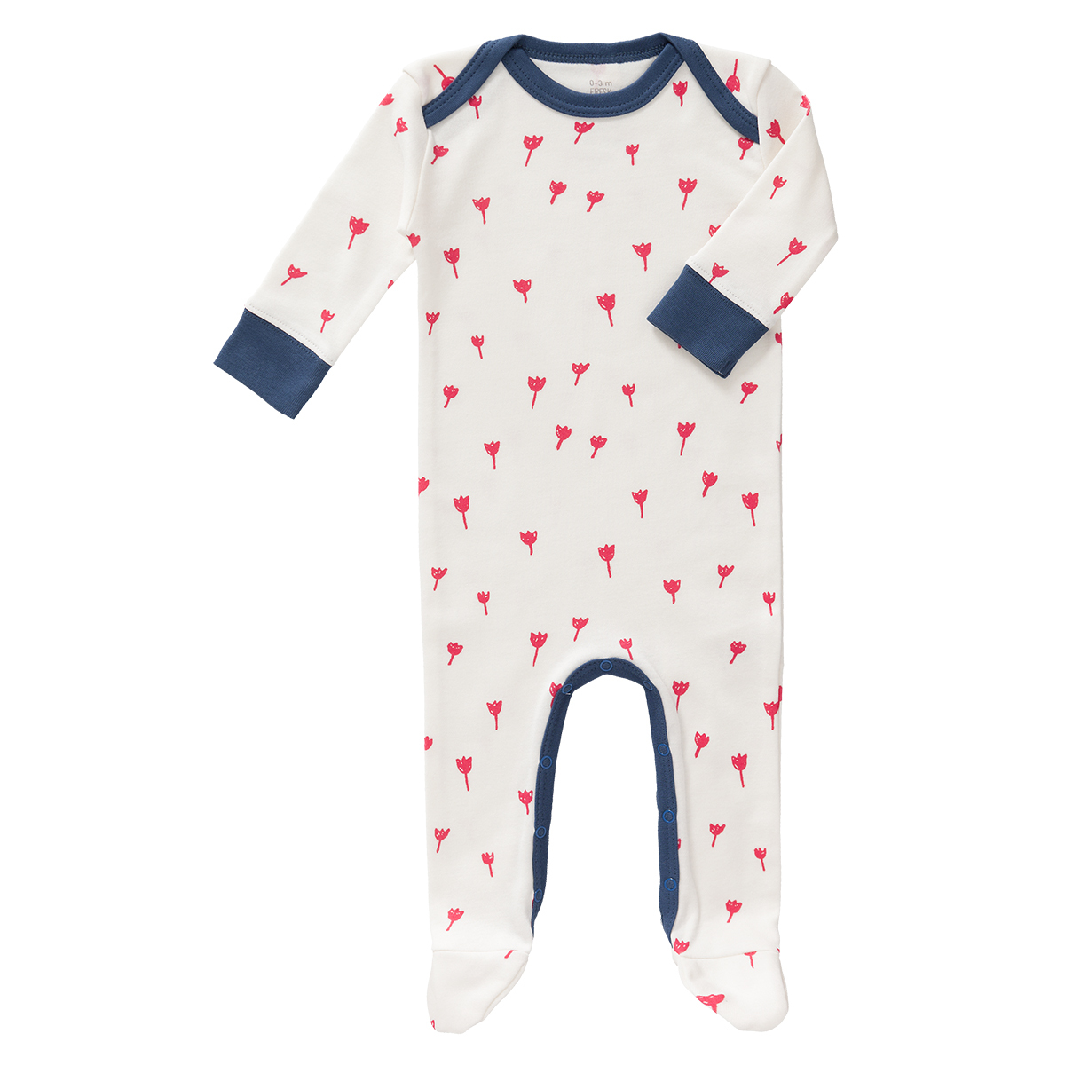 Body & Pyjama Pyjama Tulipes Rouges - 0/3 Mois