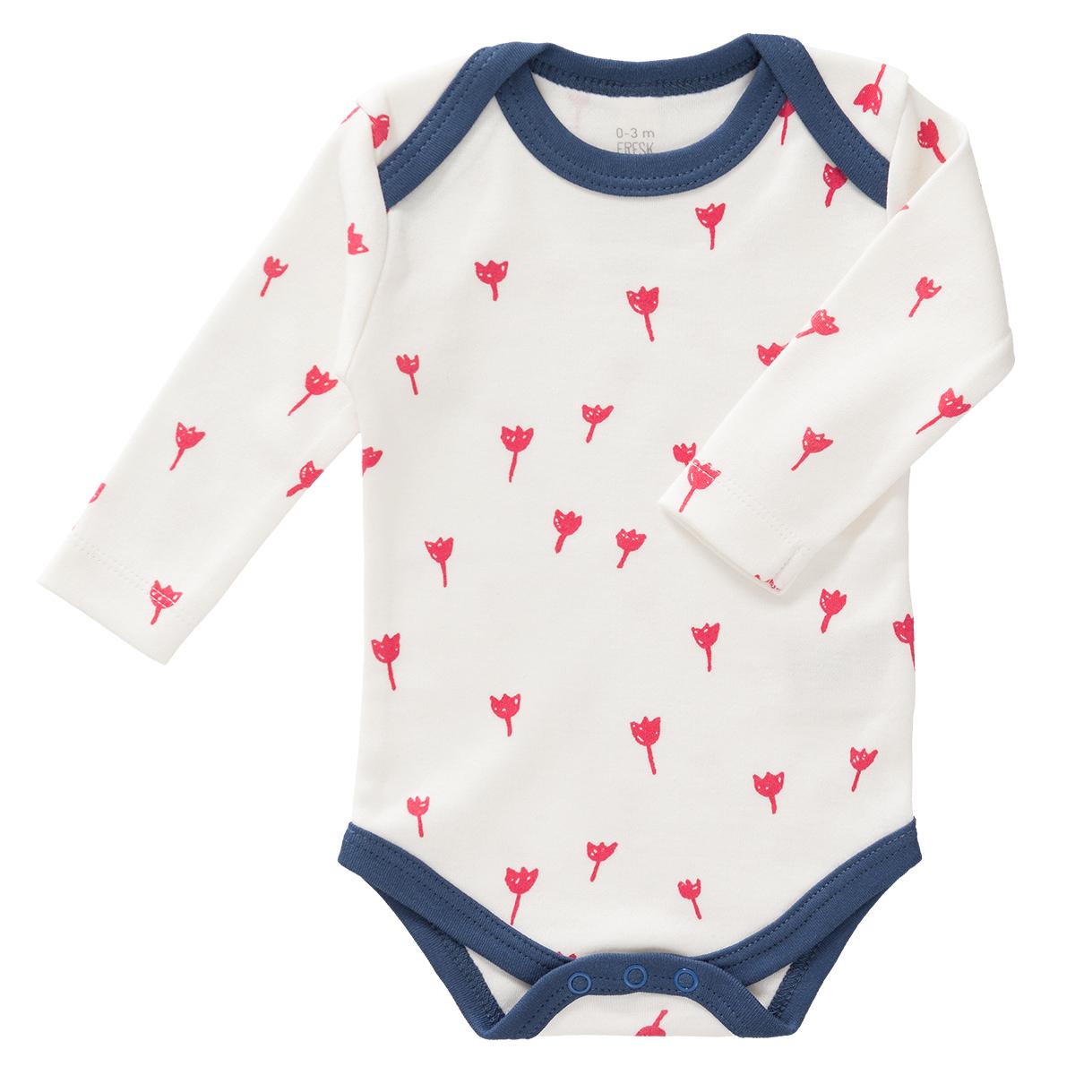 Body & Pyjama Body Manches Longues Tulipes Rouges - 6/12 Mois
