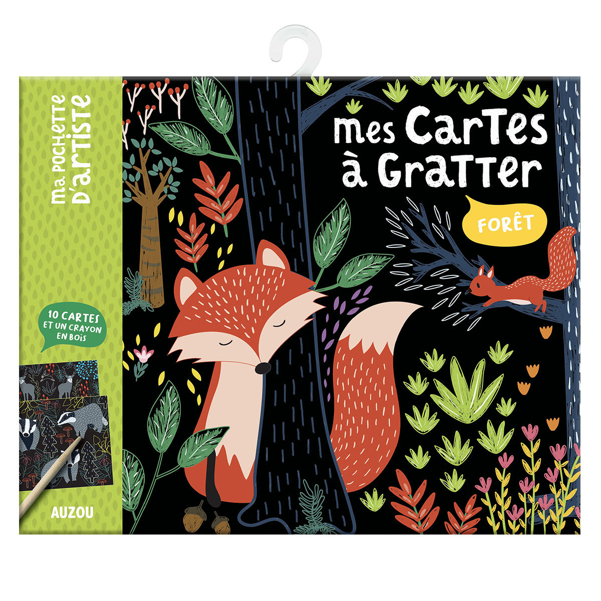 Livre & Carte Mes Cartes à Gratter - Forêt