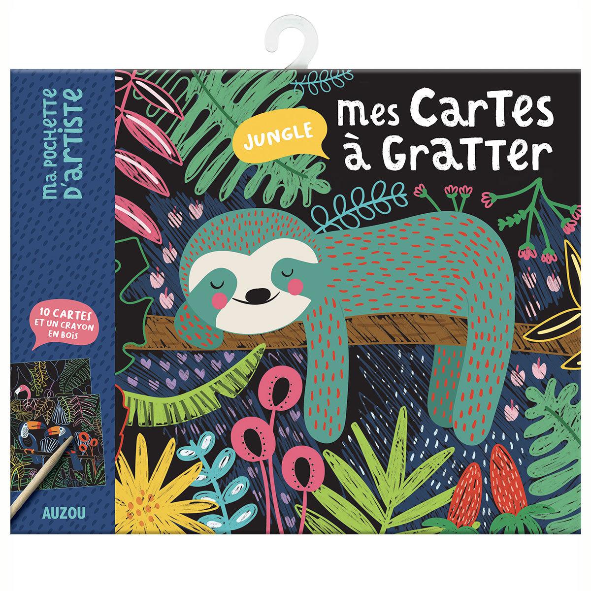 Livre & Carte Mes Cartes à Gratter - Jungle