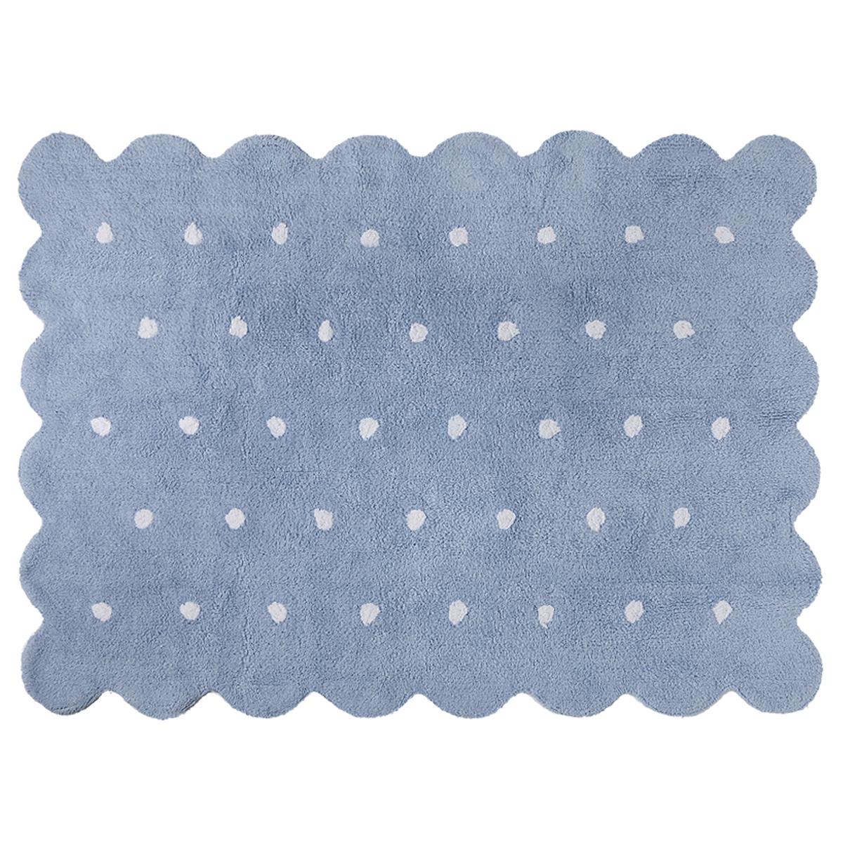 Tapis Tapis Lavable Biscuit Bleu - 120 x 160 cm Tapis Lavable Biscuit Bleu - 120 x 160 cm