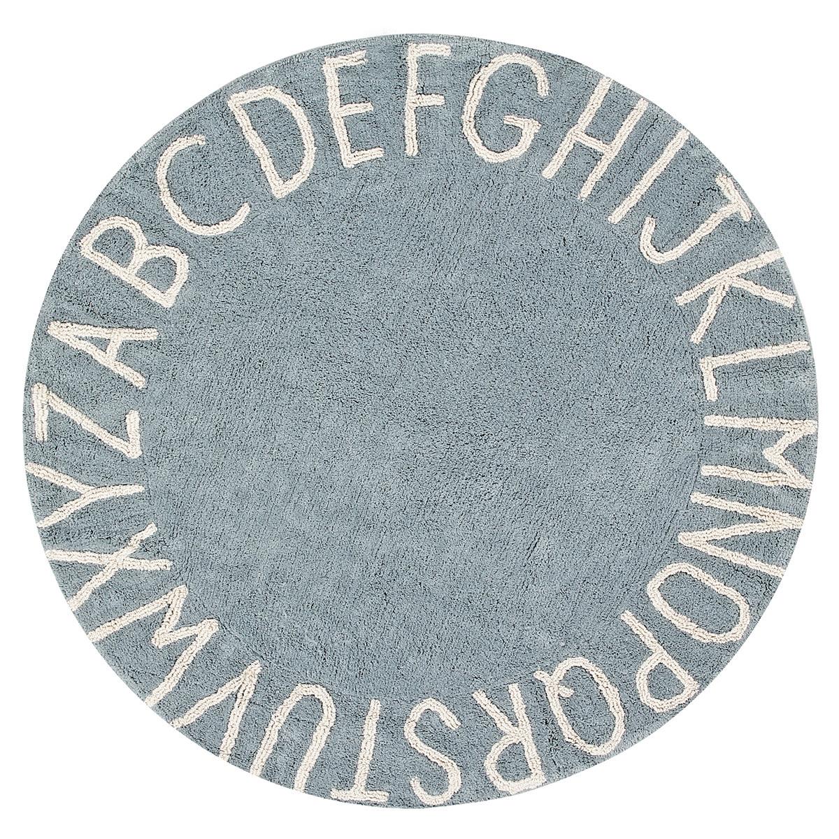 Tapis Tapis Lavable ABC Bleu et Blanc - Ø 150 cm Tapis Lavable ABC Bleu et Blanc - Ø 150 cm