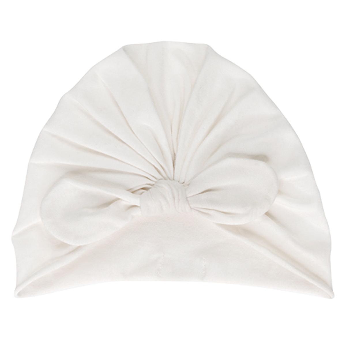 Accessoires bébé Bonnet Noeud Cream - 0/3 Mois