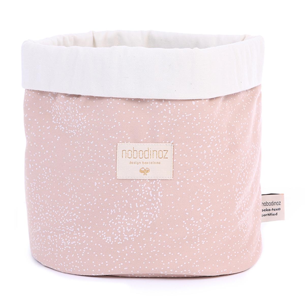 Panier & corbeille Panier de Rangement Panda Medium - White Bubble & Misty Pink