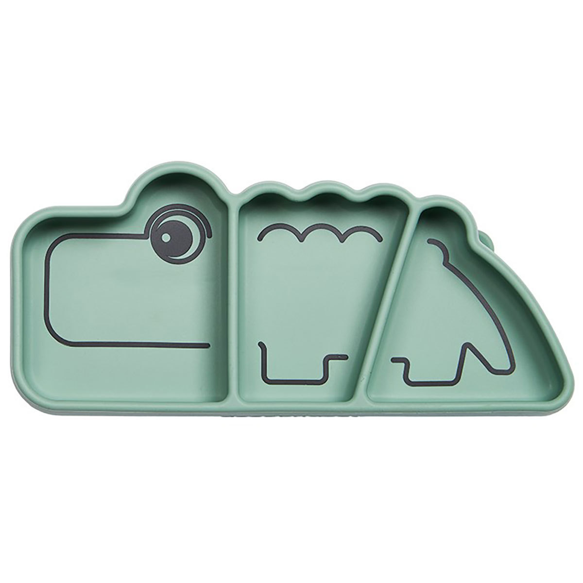 Vaisselle & Couvert Assiette Silicone Croco - Vert