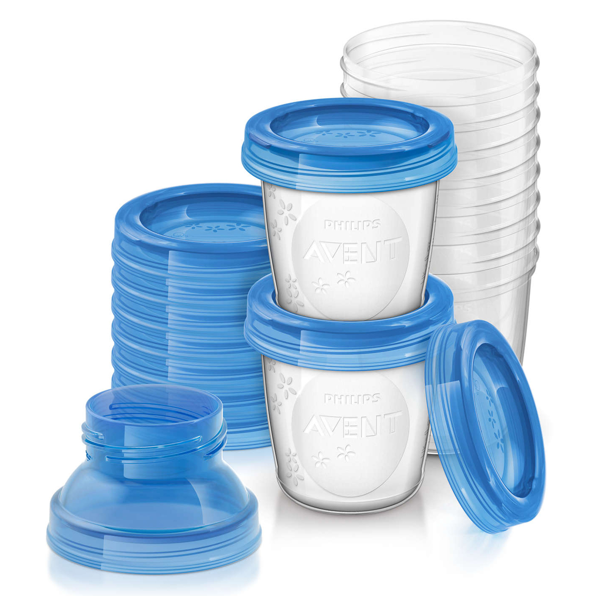 Tire-lait 10 Pots de Conservation pour Lait Maternel SCF618/10 10 Pots de Conservation pour Lait Maternel SCF618/10
