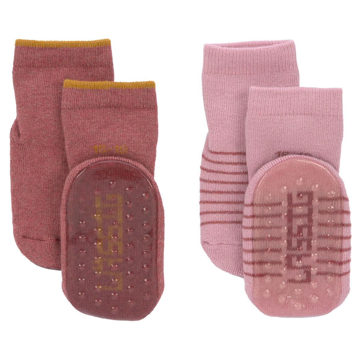 Accessoires bébé Lot de 2 Chaussettes Antidérapantes Rose - 19/22