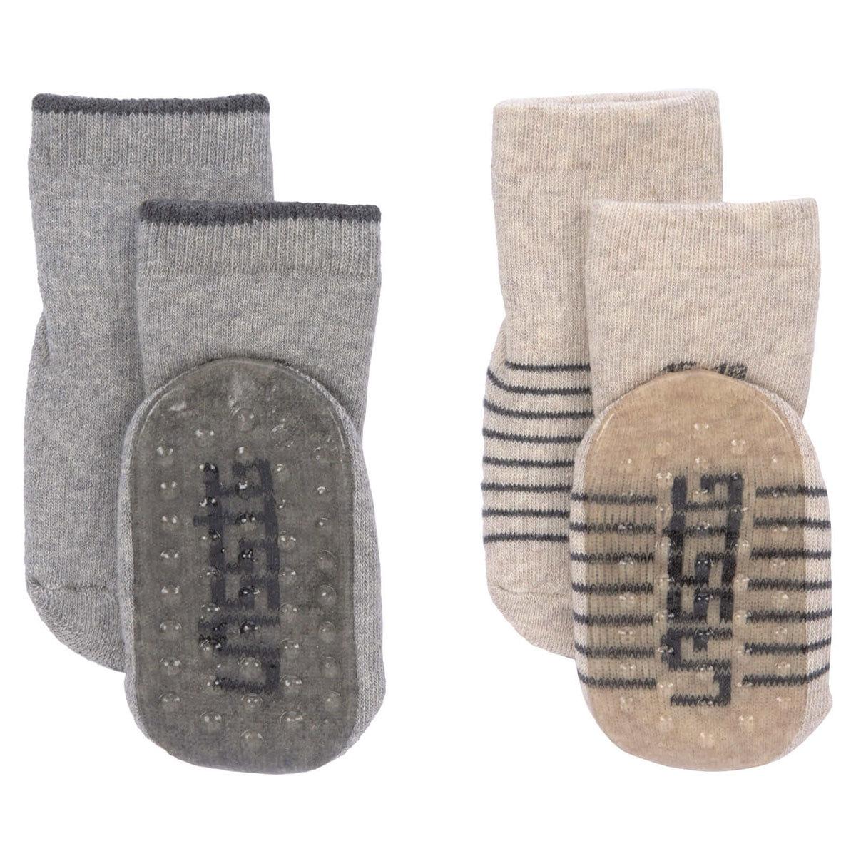 Accessoires bébé Lot de 2 Chaussettes Antidérapantes Gris - 19/22