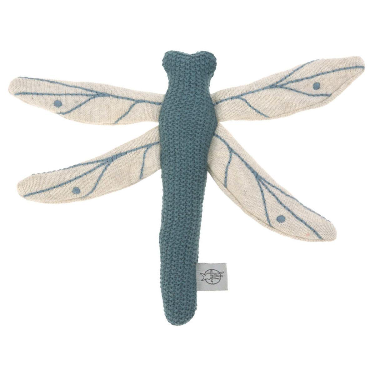 Hochet Garden Explorer - Hochet Tricoté Libellule - Bleu