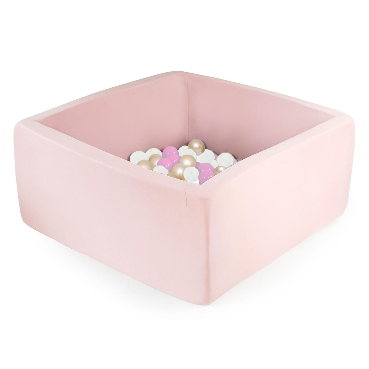 Mes premiers jouets Piscine à Balles Carrée Rose 110 x 40 cm + 400 Balles