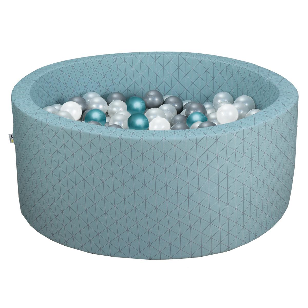Mes premiers jouets Piscine à Balles Ronde Graphic Chic & Vert de Gris 90 x 40 cm + 200 Balles