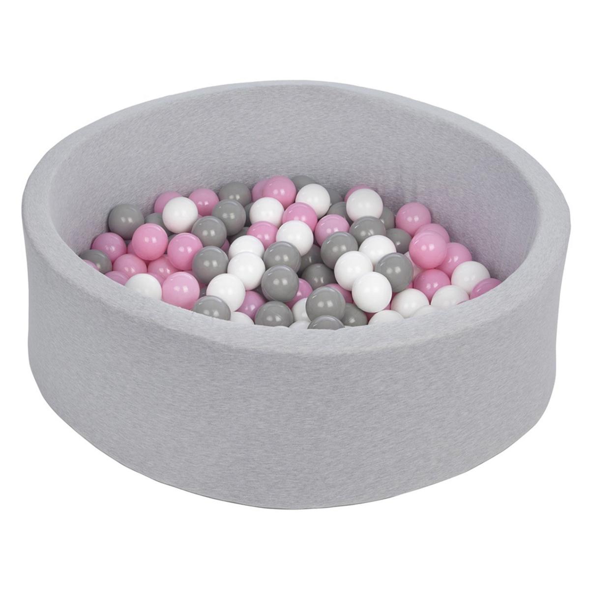 Mes premiers jouets Piscine à Balles Ronde Grise 115 x 50 cm + 600 Balles Piscine à Balles Ronde Grise 115 x 50 cm + 600 Balles
