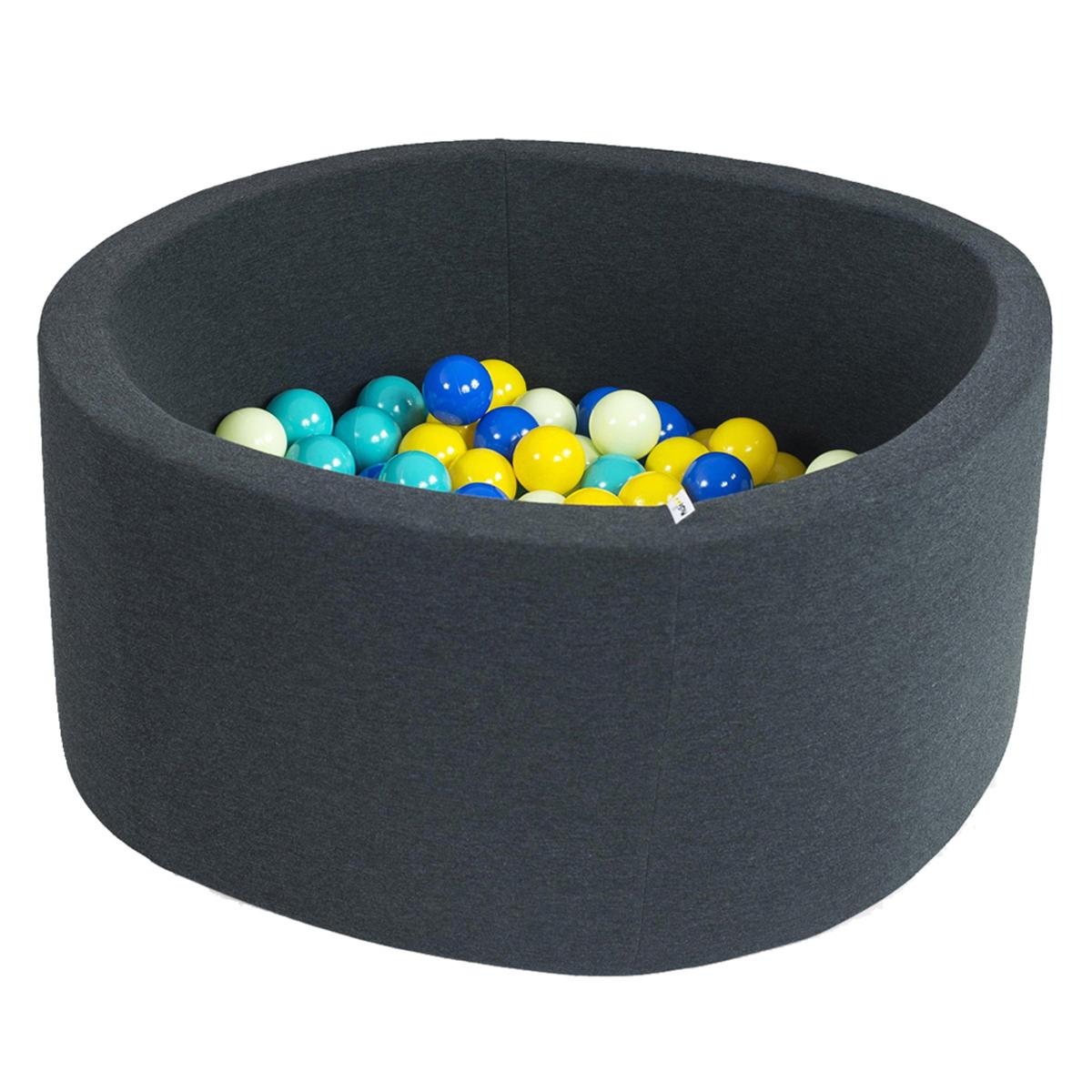 Mes premiers jouets Piscine à Balles Ronde Graphite 90 x 40 cm + 200 Balles
