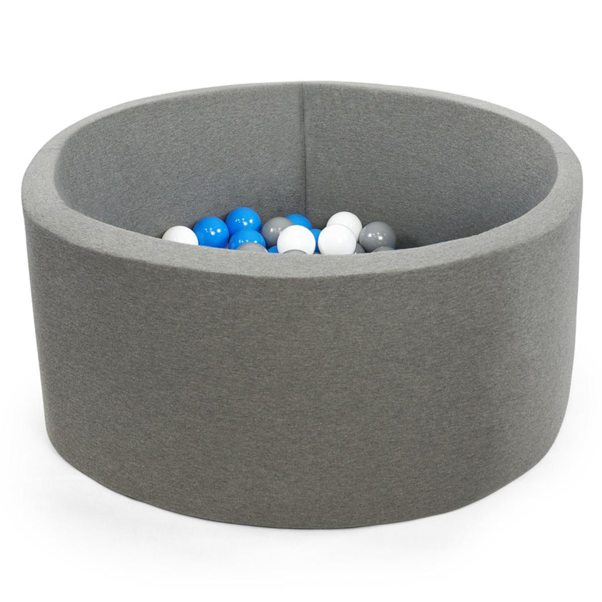 Mes premiers jouets Piscine à Balles Ronde Grise 90 x 40 cm + 200 Balles Piscine à Balles Ronde Grise 90 x 40 cm + 200 Balles