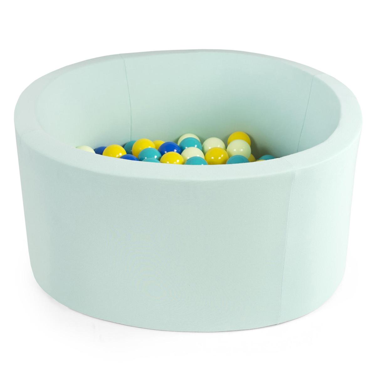 Mes premiers jouets Piscine à Balles Ronde Menthe 100 x 40 cm + 400 Balles Piscine à Balles Ronde Menthe 100 x 40 cm + 400 Balles