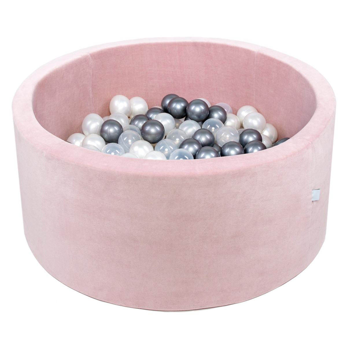 Mes premiers jouets Piscine à Balles Rose Pale 100 x 40 cm + 400 Balles
