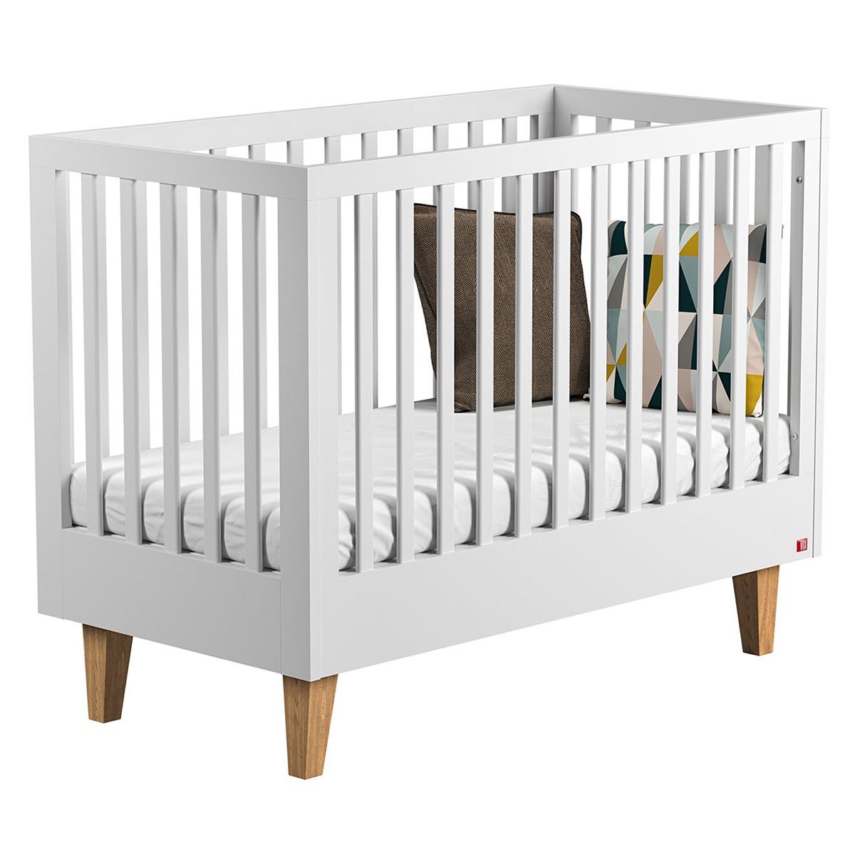 Lit bébé Lit Bébé Lounge Blanc - 60 x 120 cm
