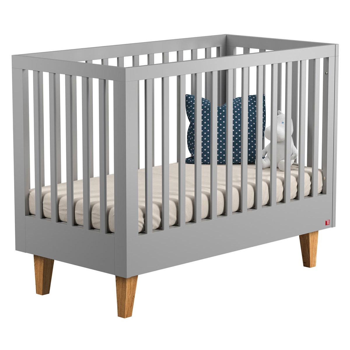 Lit bébé Lit Bébé Lounge Gris -  60 x 120 cm Lit Bébé Lounge Gris -  60 x 120 cm