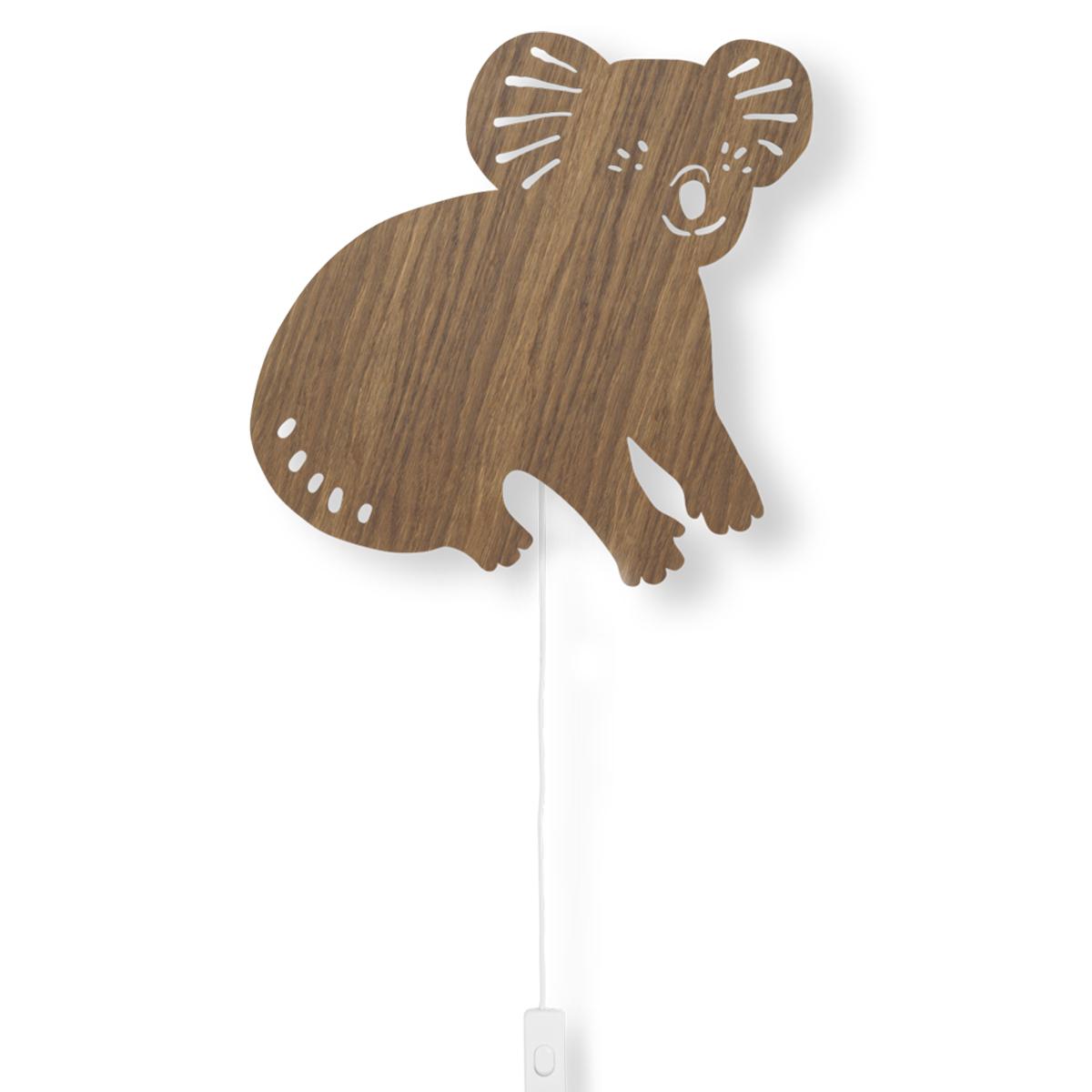 Suspension  décorative Applique Koala - Chêne Fumé Applique Koala - Chêne Fumé