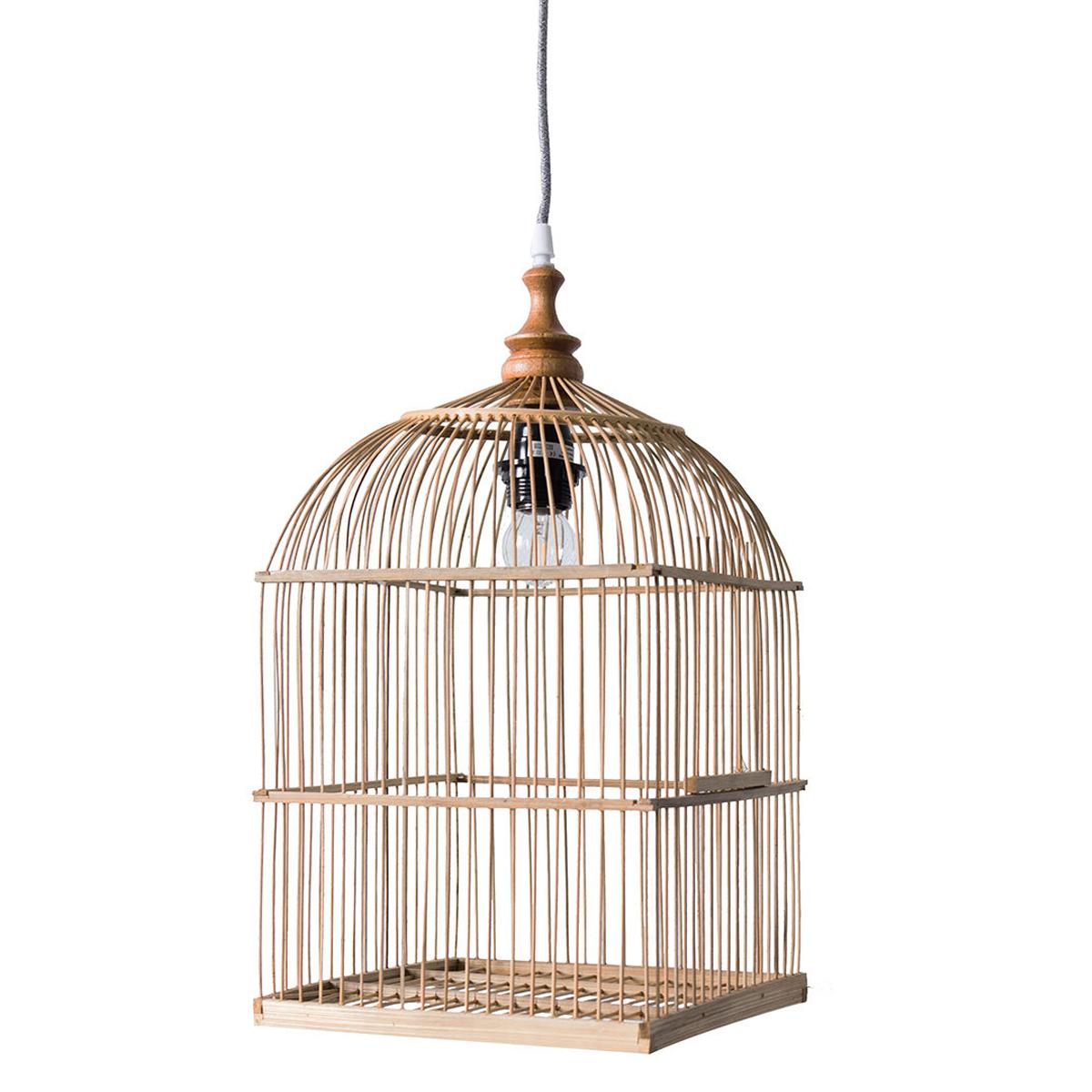 Suspension  décorative Suspension Cage à Oiseaux - Naturel