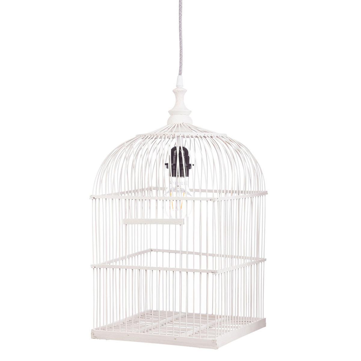 Suspension  décorative Suspension Cage à Oiseaux - Blanc