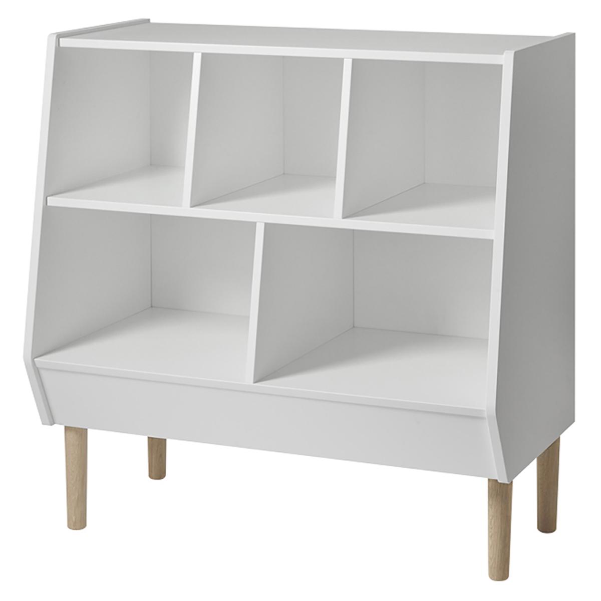 Commode Commode Storage Rack - Blanc