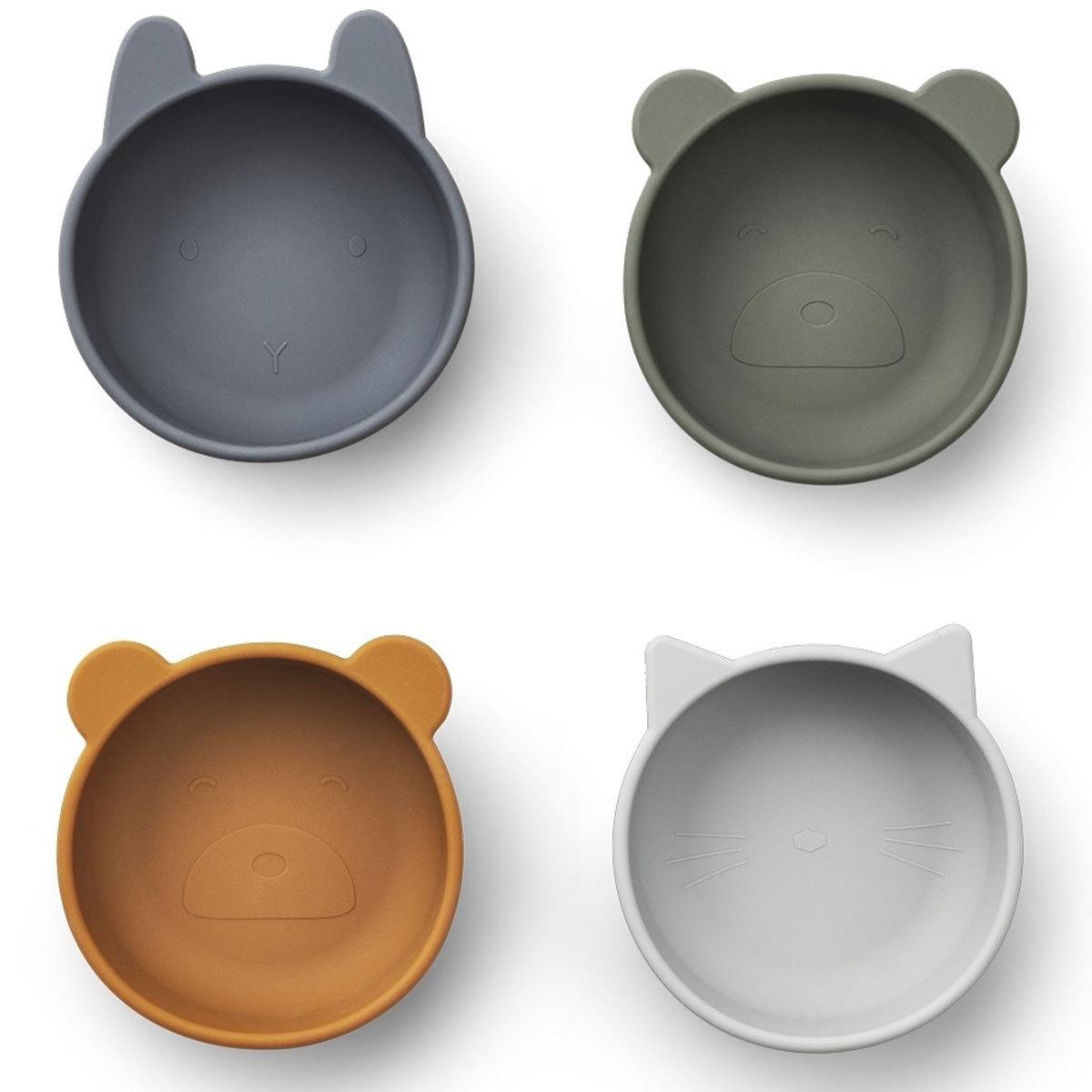 Vaisselle & Couvert Lot de 4 Bols en Silicone Iggy - Blue Mix Lot de 4 Bols en Silicone Iggy - Blue Mix
