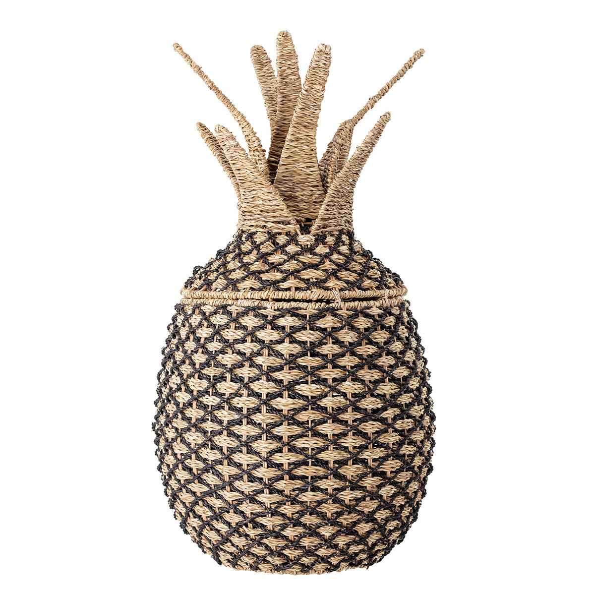 Panier & corbeille Panier de Rangement Ananas - Noir et Nature