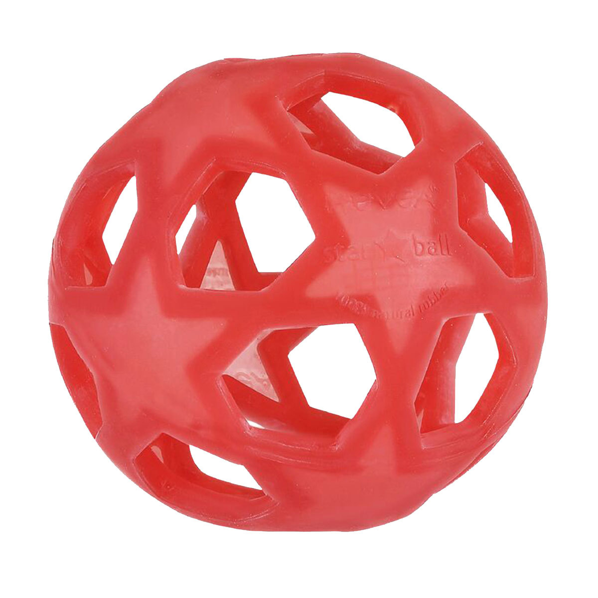 Dentition Star Ball Caoutchouc Naturel - Framboise