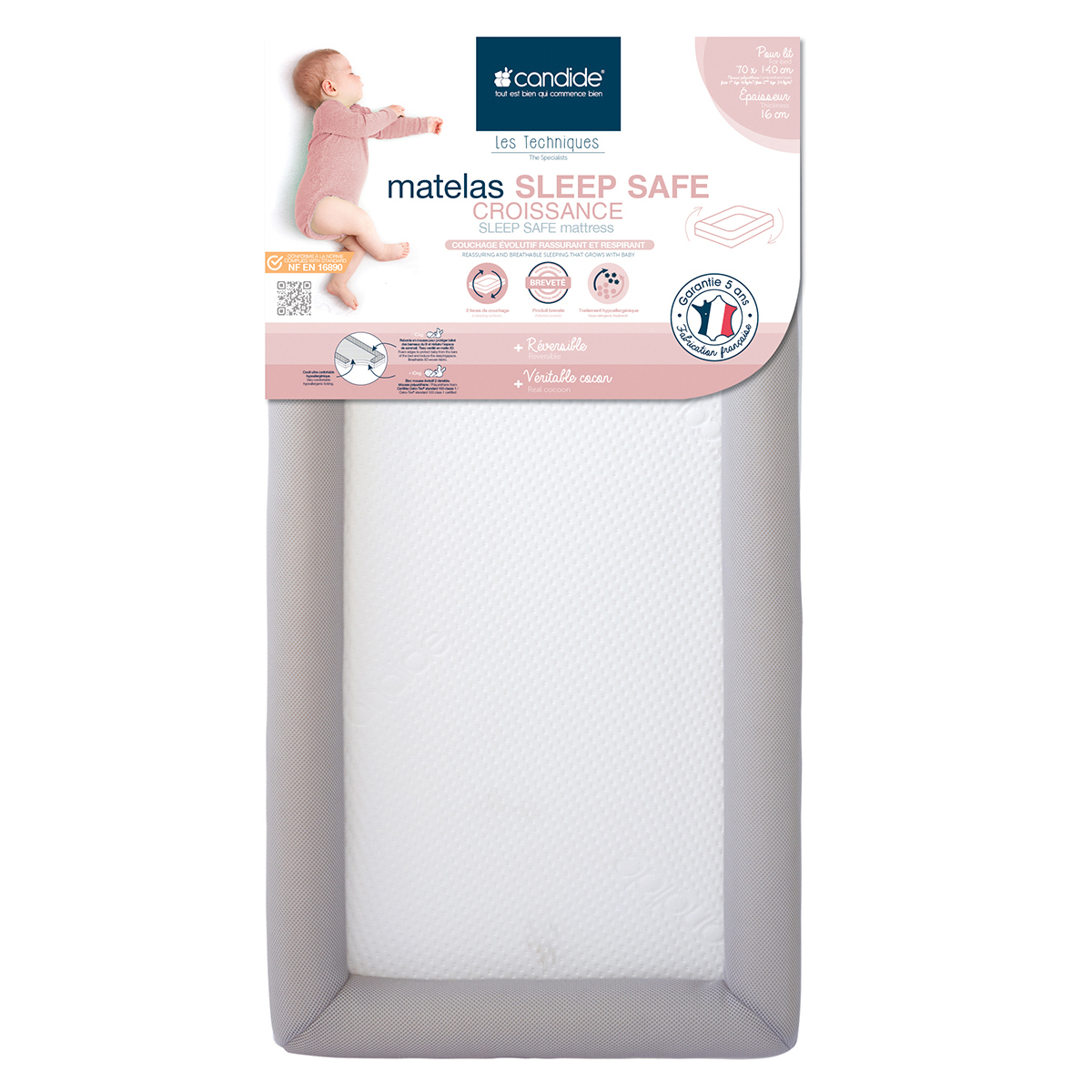 Matelas bébé Matelas Sleep Safe - 70 x 140 cm Matelas Sleep Safe - 70 x 140 cm