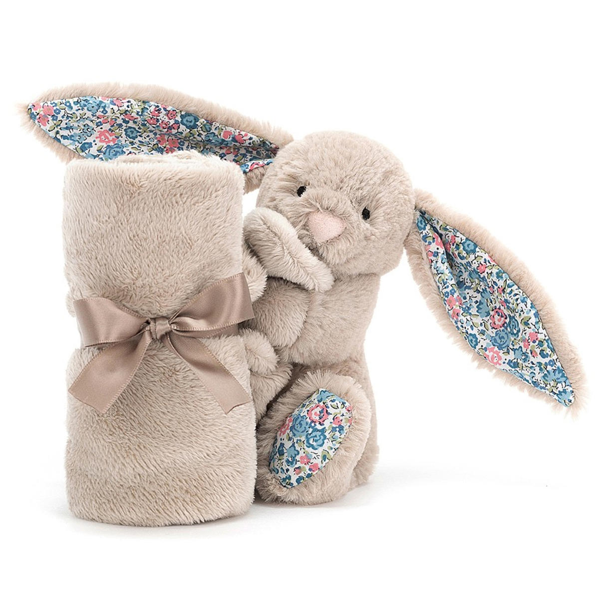 Doudou Blossom Beige Bunny Soother